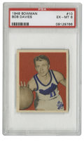 Basketball Cards:Singles (Pre-1970), 1948 Bowman Basketball Bob Davies #10 PSA EX-MT 6. One of the mostproficient players of basketball's earlier days, Bob Dav...