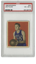 Basketball Cards:Singles (Pre-1970), 1948 Bowman Basketball Joe Fulks #34 PSA VG-EX 4. Fulks was knownas the Babe Ruth of basketball due to his tremendous scor...