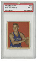 Basketball Cards:Singles (Pre-1970), 1948 Bowman Basketball Walter Budko #70 NM PSA 7. High-gradeexample from the early basketball issue Bowman issued in 1948,...