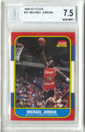 Basketball Cards:Singles (1980-Now), 1986-87 Fleer Michael Jordan #57 Beckett NM+ 7.5. Great example inwhat amounts to the perhaps the single most desirable ca...