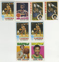 Basketball Cards:Lots, 1971-79 Topps Basketball Group Lot of 8. All eight cards from thecurrent offering have as its subject a basketball Hall of...