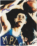 Autographs:Photos, George Mikan Signed Photograph. George Mikan, officially recognizedas basketball's first true big man, has applied his si...