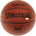 Basketball Collectibles:Balls, Magic Johnson Single Signed Basketball. Revolutionary point guard Earvin Johnson has brought a bit of Magic to this lot, s...