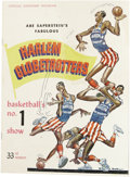 Basketball Collectibles:Programs, 1959 Signed Harlem Globetrotters Program. From the world's mostentertaining basketball troupe we offer this official souve...