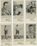 Boxing Cards:General, 1927 F52 Fro-Joy Ice Cream Gene Tunney Complete Set (6). The first six cards from the Fro-Joy Ice Cream premiums features t...