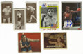 Boxing Collectibles:Autographs, Miscellaneous Boxing Cards Group Lot of 7, Signed by 2. Great group of seven boxing cards spans nearly the entire 20th cent...