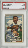 Football Cards:Singles (1950-1959), 1951 Bowman Football Marion Motley #109 PSA NM 7. Beautiful representation of HOFer Marion Motley, one of the four players ...