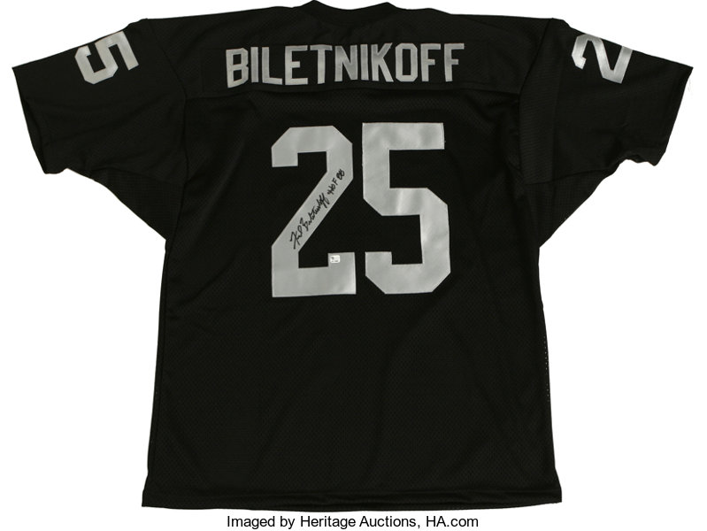 reputable site c1283 ee4b6 Fred Biletnikoff Signed Jersey. Hall of Fame receiver | Lot ...
