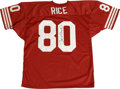 Football Collectibles:Others, Jerry Rice Signed Jersey. The future Hall of Famer Jerry Rice held just about every receiving record on the books at some t...
