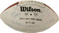 Football Collectibles:Uniforms, 1988 Pro Bowl NFC Team Signed Football. From the annual AFC/NFC Pro Bowl game in Hawaii we offer this memento which gathers...
