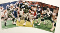 Football Collectibles:Balls, Dallas Cowboys Legends Signed Photographs Lot of 3, with 1995 Team Stamped Football. Three of the key players in the Dallas... (Total: 4 )