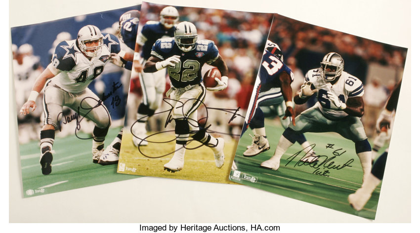 4565857e Dallas Cowboys Legends Signed Photographs Lot of 3, with 1995 ...