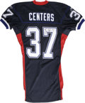 Football Collectibles:Uniforms, 2002 Larry Centers Signed Game Worn Jersey. Larry Centers represents one of the last examples of NFL fullbacks that are use...