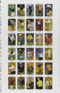 Golf Collectibles:Miscellaneous, 1992 Mueller Enterprises Golf Uncut Sheet. The 1992 golf issue released by Mueller Enterprises featured postcard size tradi...