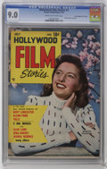 "Golden Age (1938-1955):Non-Fiction, Hollywood Film Stories #3 Davis Crippen (""D"" Copy) pedigree(Feature/Prize Publications, 1950) CGC VF/NM 9.0 Cream tooff-whit..."