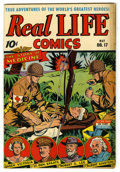 "Golden Age (1938-1955):War, Real Life Comics #17 Davis Crippen (""D"" Copy) pedigree (NedorPublications, 1944) Condition: VF+. Albert Einstein story. Ove..."