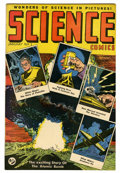 "Golden Age (1938-1955):Science Fiction, Science Comics #1 Davis Crippen (""D"" Copy) pedigree (Ace, 1946)Condition: VF/NM. Atom bomb cover. Rudy Palais cover and art..."