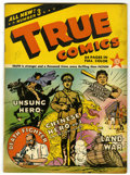 "Golden Age (1938-1955):Non-Fiction, True Comics #3 Davis Crippen (""D"" Copy) pedigree (True, 1941)Condition: FN. Baseball Hall of Fame story. Chiang Kai-Shek co..."