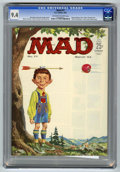 Magazines:Mad, Mad #77 (EC, 1963) CGC NM 9.4 Off-white to white pages. NormanMingo cover. JFK and Fidel Castro photos. Comic strip spoofs....