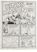 Original Comic Art:Complete Story, Fight Comics #7, Complete 7-page Kinks Mason Story Original Art(Fiction House, 1940). This yarn must rank as one of the fir...(Total: 7 Items)