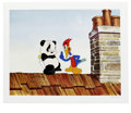 "Animation Art:Limited Edition Cel, ""Woody Woodpecker Scolds Andy Panda"" Hand Painted Cel #8/200Original Art (Walter Lantz Productions). This limited edition c...(Total: 2 Items)"