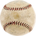 Autographs:Baseballs, 1920's Ruth, Gehrig, Cobb, Pennock & Combs Signed Baseball. Nota bad bunch of names, is it? One savvy fan of Golden Age b...