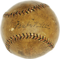 1924 Babe Ruth World Series Single Signed Baseball. Historic horsehide was acquired in person by the father of our consi...