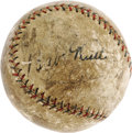 Autographs:Baseballs, Circa 1927 Babe Ruth & Lou Gehrig Signed Baseball. Take a Ruthand a Gehrig autograph from the most memorable era of their ...