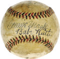 Autographs:Baseballs, Circa 1930 Babe Ruth, John McGraw & Connie Mack SignedBaseball. True iconic status in the annals of baseball history ands...
