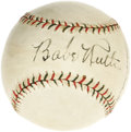 Autographs:Baseballs, Early 1930's Babe Ruth, Tony Lazzeri & More Signed Baseball. Itlooks like a $50,000 Ruth single, doesn't it? We can thank...