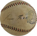 Autographs:Baseballs, 1930's Jimmie Foxx Signed Baseball. Only the most eagle-eyed amongus could spot what PSA/DNA claims to be ink remnants or ...
