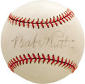 Autographs:Baseballs, 1930's Babe Ruth Single Signed Baseball, PSA NM 7. High-grade orbwas likely signed by the Bambino on a St. Louis Browns ro...