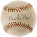 Autographs:Baseballs, Exceptional 1940's Babe Ruth Single Signed Baseball. There areseveral components that must fall into place to create a wor...