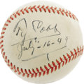 Autographs:Baseballs, 1949 Ty Cobb Single Signed Baseball. Simply outstanding specimenranks among the very finest Cobb singles to have reached t...