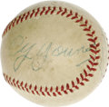 Autographs:Baseballs, Early 1950's Cy Young Double Signed Baseball. Yes, you read thetitle correctly, and if you are thinking that this must be ...