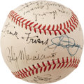 Autographs:Baseballs, 1950's Sports Legends Signed Baseball with Marciano, Walcott,DiMaggio. Exceptional assortment of early athletic superstars...