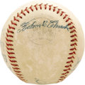 Autographs:Baseballs, Circa 1956 Roberto Clemente Signed Baseball. A strong blue ink signature over the Spalding stamping on this ONL (Giles) bal...