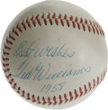 Autographs:Baseballs, 1958 Ted Williams Single Signed Baseball. If there is a finer single from the great Ted Williams' playing days, we certainl...