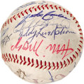 Autographs:Baseballs, 1970's Hall of Famers Multi-Signed Baseball. Quite a few legends ofthe game who once held this sphere in their hands have ...