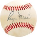 Autographs:Baseballs, 1980 Roger Maris Single Signed Baseball. The reigning single season home run king was on hand at Dodger Stadium on July 8, ...