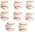 Autographs:Baseballs, 1980's-2000's Brooklyn Dodgers Single Signed Baseballs Lot of 76.Likely the most comprehensive grouping of single Bums eve...(Total: 70 )