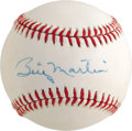 Autographs:Baseballs, 1980's Billy Martin Single Signed Baseball, PSA NM-MT+ 8.5. Hepartied with Mantle and brawled with Steinbrenner and died t...
