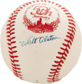 Autographs:Baseballs, 1983 Walt Alston Single Signed Baseball. With guys like Jackie,Campy, Pee Wee and the Duke in the Dodgers dugout, it only ...