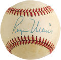 Autographs:Baseballs, 1980's Roger Maris Single Signed Baseball. Sadly both the tremendous popularity of this Yankee superstar and the memorabili...
