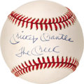 "Autographs:Baseballs, Mickey Mantle ""The Mick"" Single Signed Baseball. As hot as Mantle singles have been in the past year or so, those bearing n..."