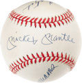 Autographs:Baseballs, 1980's Triple Crown Winners Signed Baseball. Earning the trifectaof a top ranking in batting average, home runs and runs b...