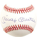 Autographs:Baseballs, 1980's Mickey Mantle Single Signed Baseball, PSA Mint 9. Don't justtake our word for it--we have the top experts at PSA/DN...