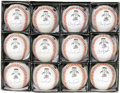 "Autographs:Baseballs, 1995 Cal Ripken, Jr. Single Signed ""2,131"" Baseballs Lot of 12.When the Iron Man overtook the Iron Horse in the most impre...(Total: 12 )"