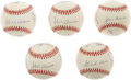Autographs:Baseballs, 500 Home Run Club Signed Baseballs Lot of 5. Only Mickey Mantle andTed Williams are absent on these five balls signed by t... (Total:5 )