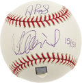Autographs:Baseballs, 2001 Ichiro Suzuki & Albert Pujols Signed Baseball, PSA Mint 9. With two distinctly different styles of hitting, the new st...
